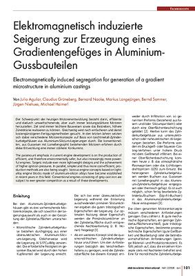 Elektromagnetisch induzierte Seigerung zur Erzeugung eines Gradientengefüges in Aluminium-Gussbauteilen