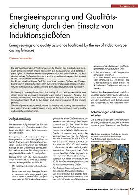 Energieeinsparung und Qualitätssicherung durch den Einsatz von Induktionsgießöfen