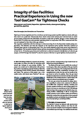 Integrity of Gas Facilities: Practical Experience in Using the new Tool GasCam® for Tightness Checks