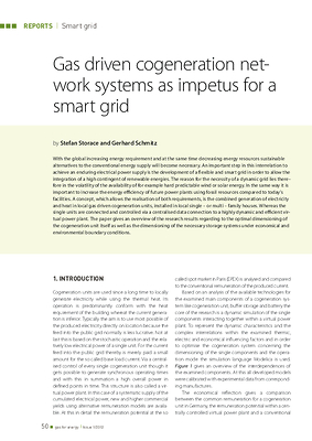 Gas driven cogeneration network systems as impetus for a smart grid