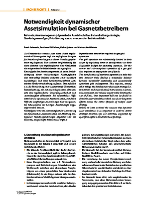 Notwendigkeit dynamischer Assetsimulation bei Gasnetzbetreibern