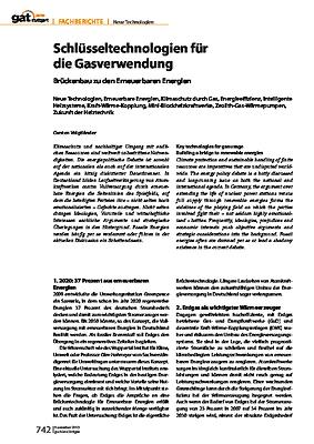 Schlüsseltechnologien für die Gasverwendung