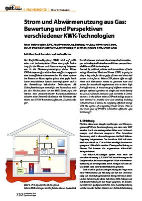 Strom und Abwärmenutzung aus Gas: Bewertung und Perspektiven verschiedener KWK-Technologien