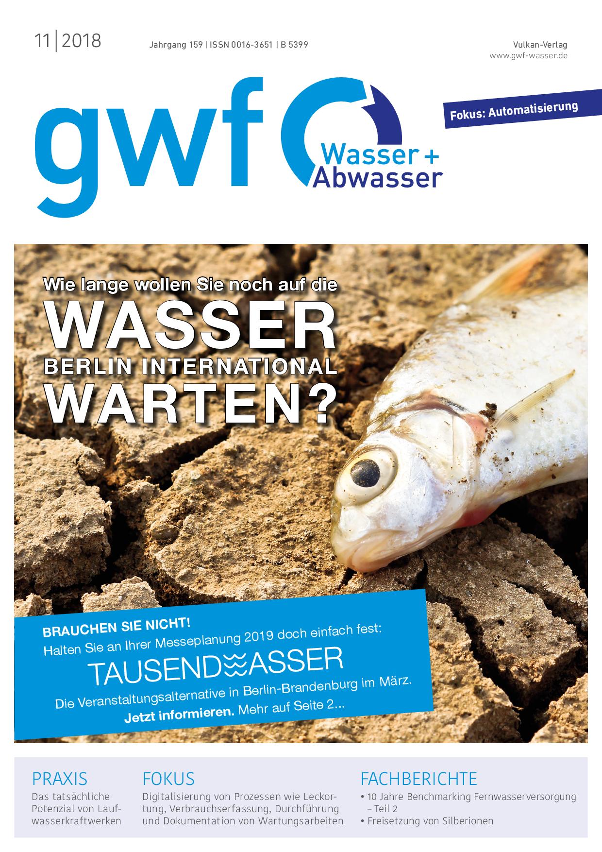 gwf – Wasser|Abwasser – 11 2018