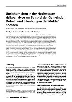 Unsicherheiten in der Hochwasser-risikoanalyse am Beispiel der Gemeinden Döbeln und Eilenburg an der Mulde/Sachsen