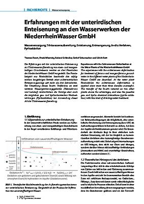 Erfahrungen mit der unterirdischen Enteisenung an den Wasserwerken der NiederrheinWasser GmbH