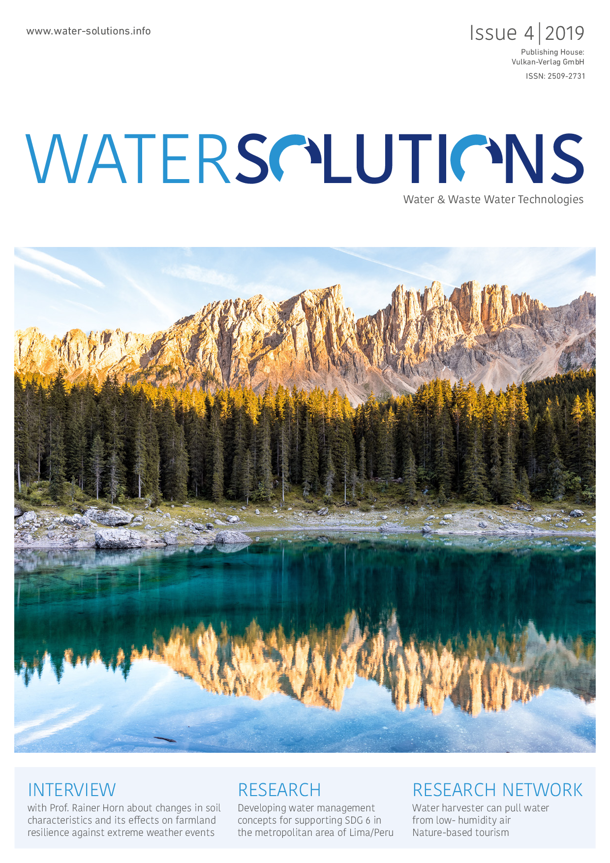 Water Solutions – 04 2019