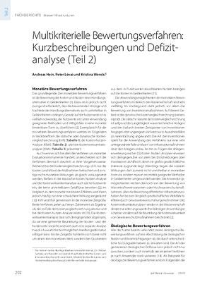 Multikriterielle Bewertungsverfahren: Kurzbeschreibungen und Defizit-analyse (Teil 2)