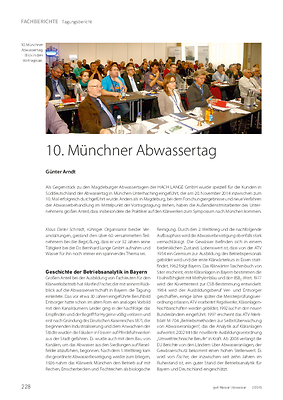 10. Münchner Abwassertag