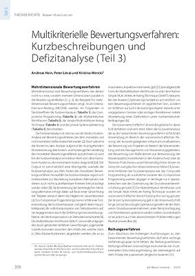 Multikriterielle Bewertungsverfahren: Kurzbeschreibungen und Defizitanalyse (Teil 3)