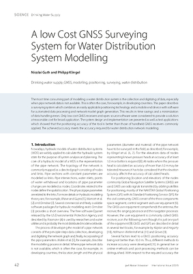 A low Cost GNSS Surveying System for Water Distribution System Modelling