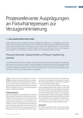 Prozessrelevante Ausprägungen an Fixturhärtepressen zur Verzugsminimierung