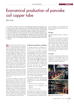 Economical production of pancake coil copper tube