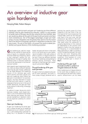 An overview of inductive gear spin hardening