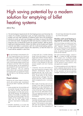 High saving potential by a modern solution for emptying of billet heating systems