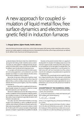 A new approach for coupled simulation of liquid metal flow, free surface dynamics and electromagnetic field in induction furnaces