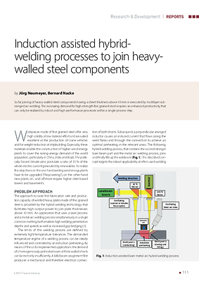 Induction assisted hybrid-welding processes to join heavy-walled steel components