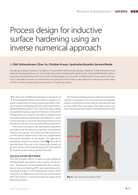 Process design for inductive surface hardening using an inverse numerical approach