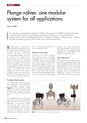 Flange valves: one modular system for all applications