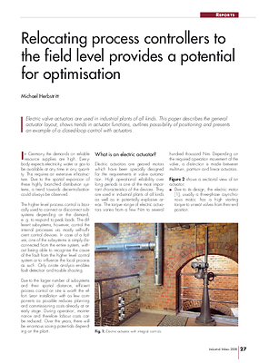 Relocating process controllers to the field level provides a potential for optimisation