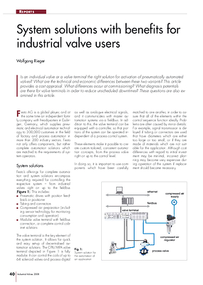 System solutions with benefits for industrial valve users