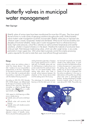 Butterfly valves in municipal water management