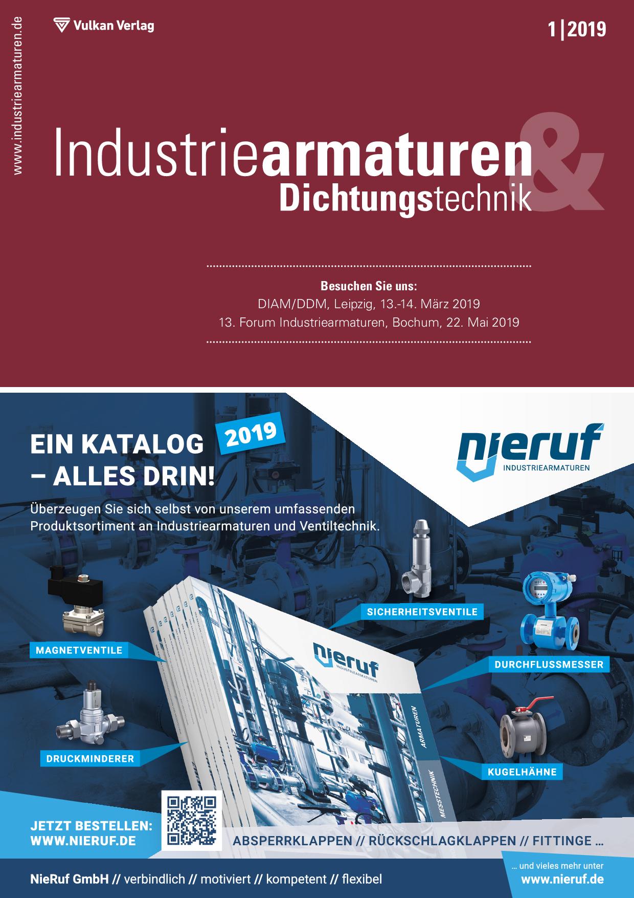Industriearmaturen – 01 2019