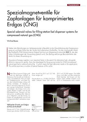 Spezialmagnetventile für Zapfanlagen für komprimiertes Erdgas (CNG)