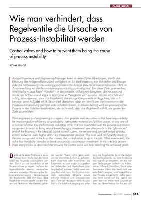 Wie man verhindert, dass Regelventile die Ursache von Prozess-Instabilität werden