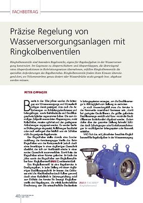 Präzise Regelung von Wasserversorgungsanlagen mit Ringkolbenventilen