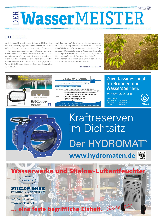 Wassermeister – 02 2019